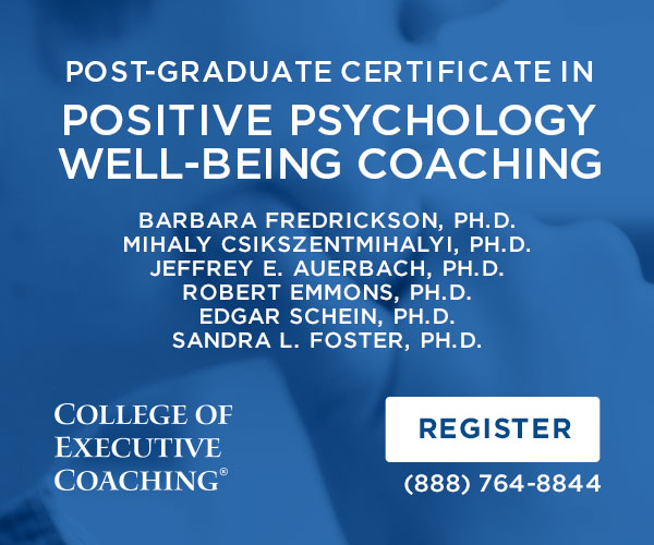 Positive Psychology Well-Being Coaching